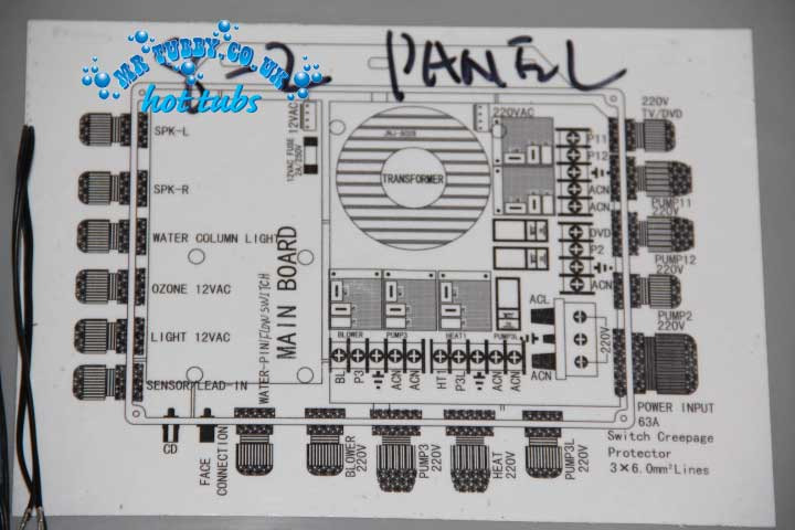 CHINESE HOT TUB SPA CONTROL PACK - Main Relay Power Board KL8-2 TCP8